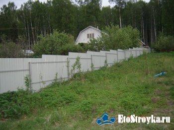 Заборы из профнастила в Екатеринбурге