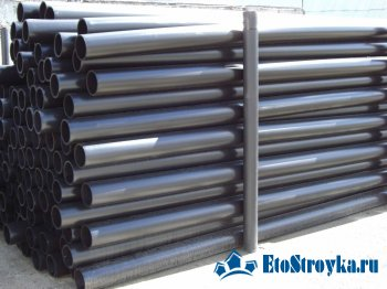 Водопроводные трубы из полиэтилена