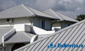Устройство крыши из профнастила